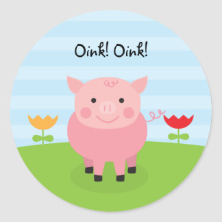 Barnyard Party Personalized Birthday Stickers