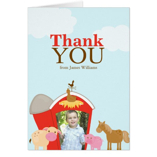 Barnyard Thank You Card