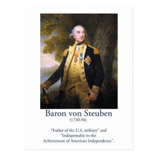 Baron von Steuben - US Military Postcard