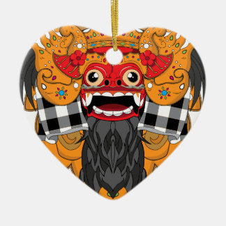 Barong Bali Ceramic Heart Decoration