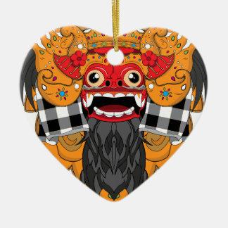 Barong Bali Ceramic Heart Decoration