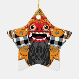 Barong Bali Ceramic Star Decoration