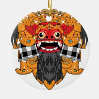 Barong Bali Round Ceramic Decoration