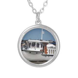 Barooga wooden boat, Goolwa, South Australia Silver Plated Necklace
