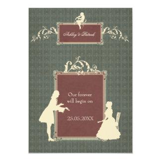 Baroque 13 Cm X 18 Cm Invitation Card