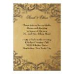 Baroque Antique Gold Wedding Reception Cards Invites