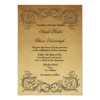 Baroque Antique Wedding invitation