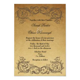 Baroque Antique Wedding invitation