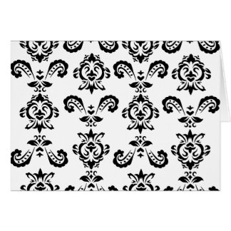 Baroque Black Notecards (blank inside) Note Card