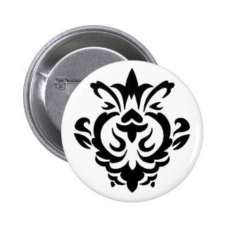 Baroque Black Single (button) 6 Cm Round Badge