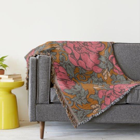 Baroque Bouquet Throw Blanket
