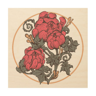 Baroque Bouquet Wood Panel Print