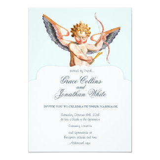 Baroque Cupid custom wedding invitation