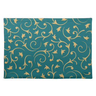 Baroque Design – Gold on Teal Place Mat