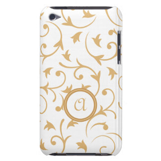 Baroque Design with Personalised Disc Gold & White iPod Touch Covers