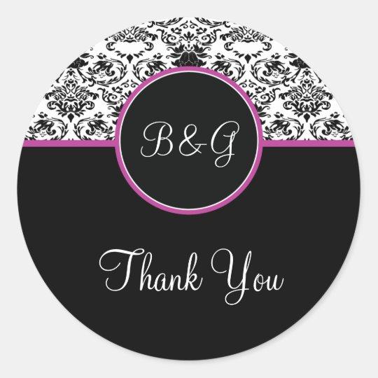 Baroque Elegance Thank You Sticker