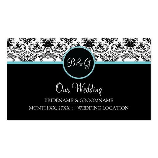 Baroque Elegance Wedding Website Business Cards
