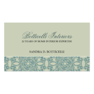 Baroque English Damask Business Card