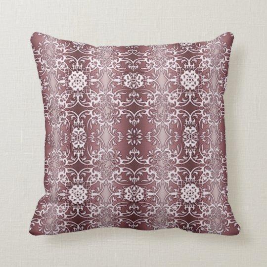 baroque floral pattern cushion