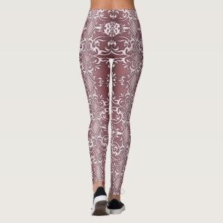 baroque floral pattern leggings