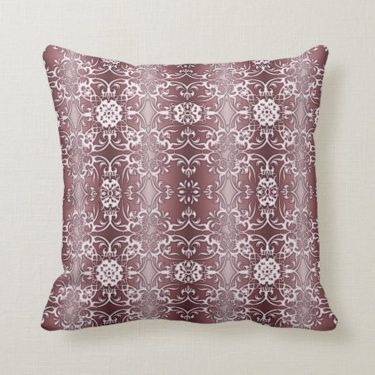 baroque floral pattern throw pillow