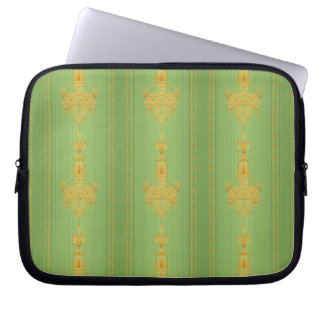 Baroque floral pattern with border... laptop sleeve