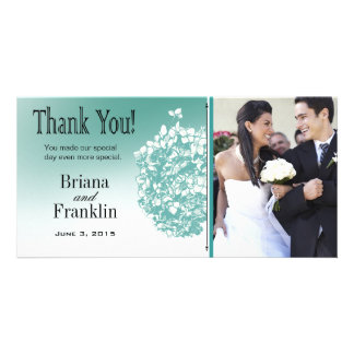 Baroque Flowerball Photo Thank You Photo Card Template