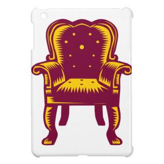 Baroque Grand Arm Chair Woodcut iPad Mini Covers