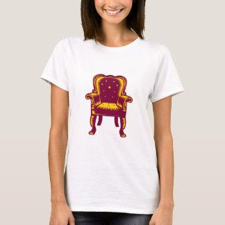 Baroque Grand Arm Chair Woodcut T-Shirt