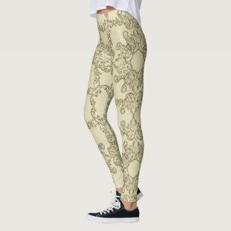 baroque grange pattern. leggings