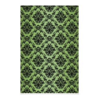 Baroque Green Victorian Scrapbook Paper Stationery Paper