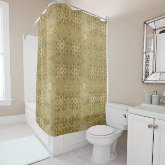 baroque grunge texture shower curtain