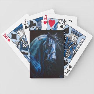 baroque horse poker deck