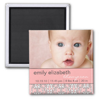 Baroque in Pink Baby Photo Magnet