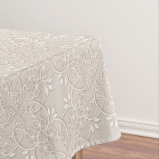 baroque lace pattern tablecloth