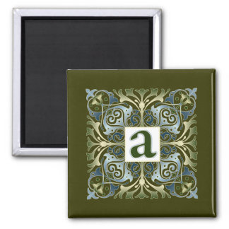 Baroque Letter A Magnets