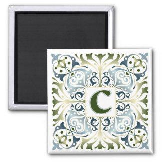 Baroque Letter C Fridge Magnets