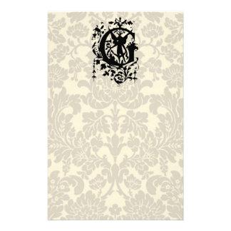 Baroque Monogram G Stationery Paper