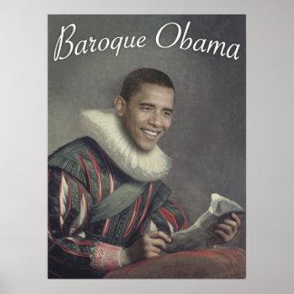 Baroque Obama Poster
