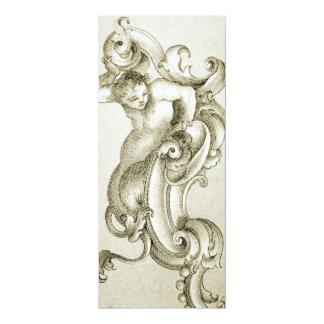Baroque ornament 10 cm x 24 cm invitation card
