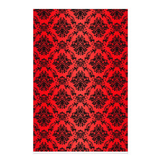 Baroque Red Victorian Scrapbook Paper Stationery Paper