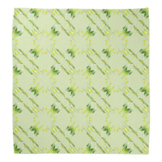 Baroque style lime pattern. bandana