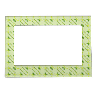 Baroque style lime pattern. magnetic picture frame