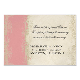 Baroque Style Vintage Rose Lace Card