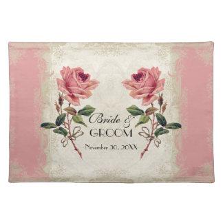 Baroque Style Vintage Rose Lace Place Mat