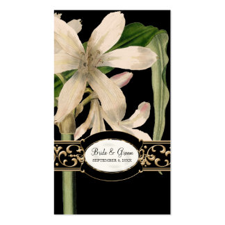 Baroque Vintage Lily Formal Wedding Favor Gift Tag Business Card Templates