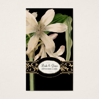 Baroque Vintage Lily Formal Wedding Favor Gift Tag Business Card