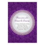 Baroque Violet Plaque Wedding Reception Card