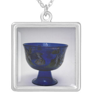 Barovier Cup', marriage cup with painted Silver Plated Necklace