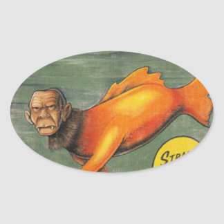 Barracuda Ape Oval Sticker